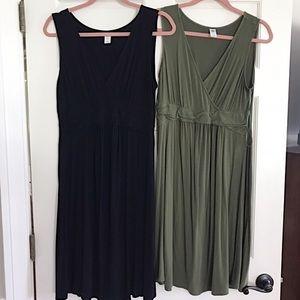 2 Old Navy Maternity Dresses